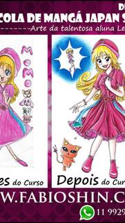 Antes e Depois da Aluna Yukie