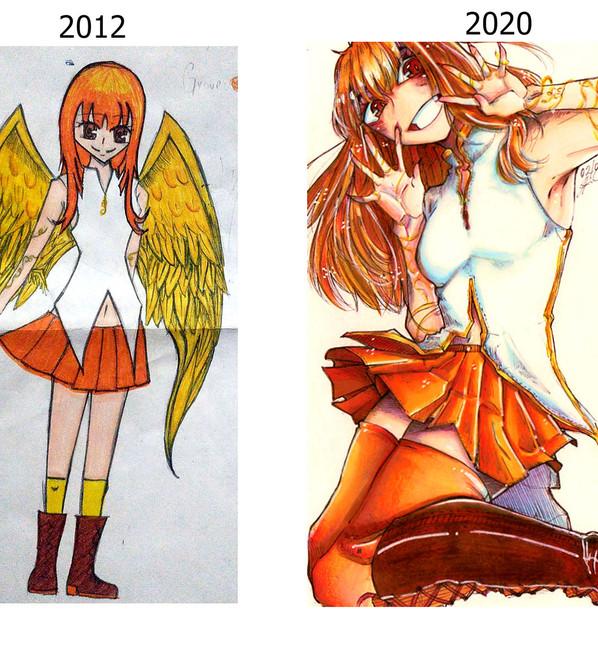 Arte de Antes e depois da Sensei Carol Itimura