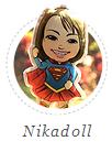 Boneco de pano personalizado, nikadoll