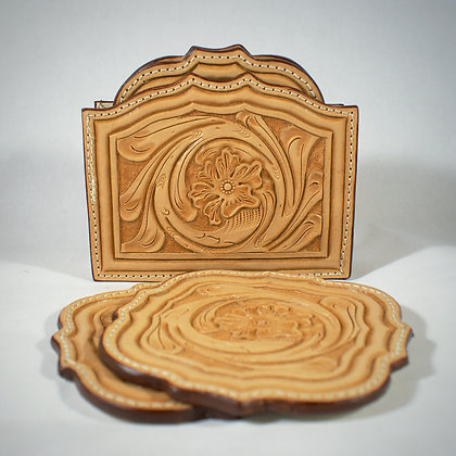 The Brock Coaster Set with Holder