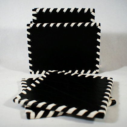 Classic Coaster Set with Holder
