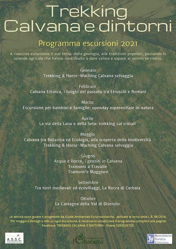 calendario 2021 - trekking calvana e dintorni