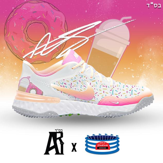 Dunkin' Alpha Hurahce Baseball turf Shoe
