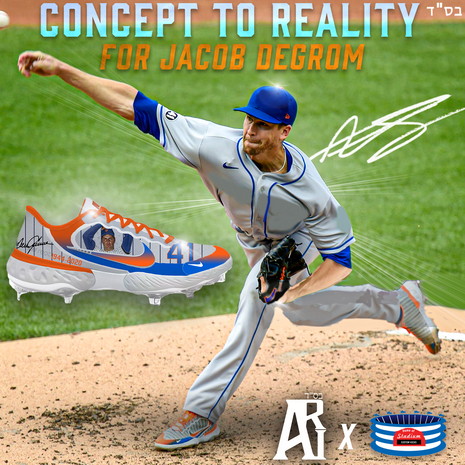 Jacob Degrom Cleats 9/17/20