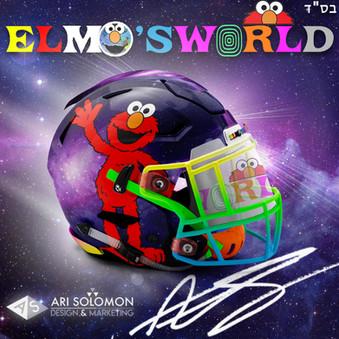 Elmo X Astroworld Helmet