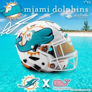 Dolphins X Vineyard Vines Helmet