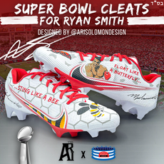 Ryan Smith Super Bowl Cleats