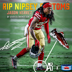 Jason Verrett Nipsey Hussle Cleats Worn
