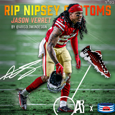 Jason Verrett Nipsey Hussle Cleats Worn