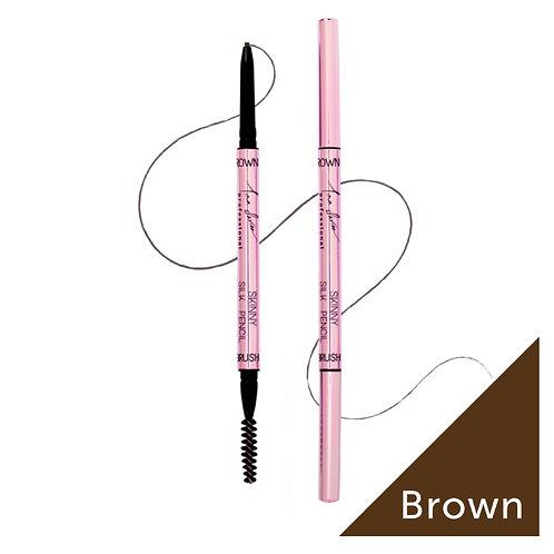 Skinny Silk Pencil - Pack of 3 - Brown