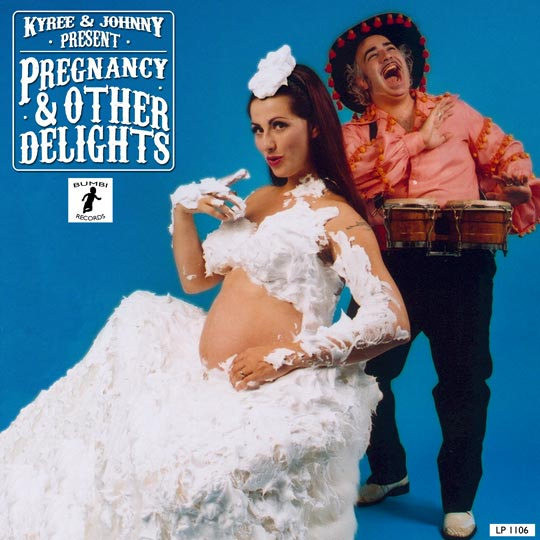Photo by Taffi Rosen Pregnancy photos spoofing a Herb Alpert Album cover