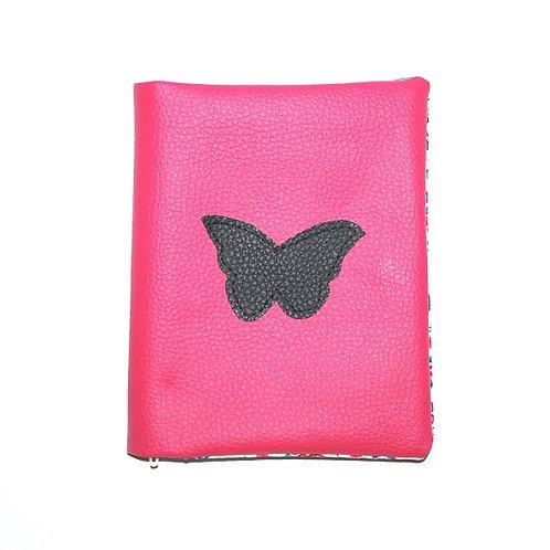 Pochette double papillon noir