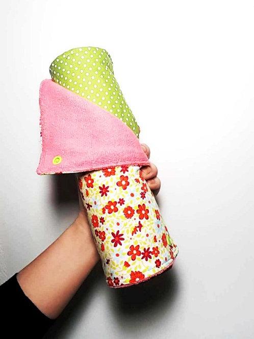 Essuie-tout lavables Flower