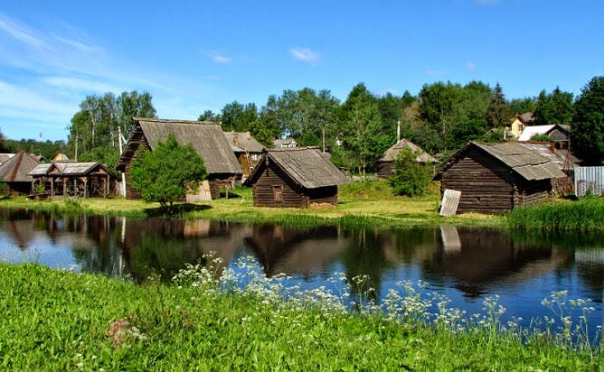old Russian village-
