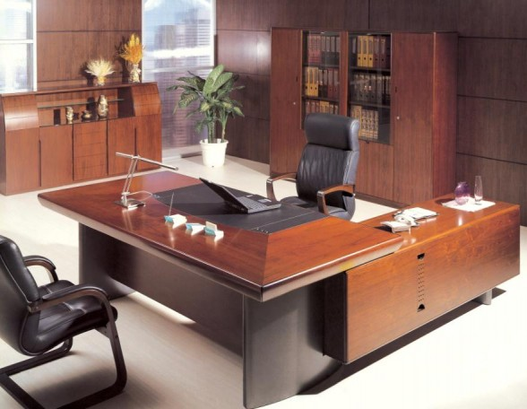 Solid-Wooden-Desk-elegant-wooden-table-desk-cabinets-shelving-bookcase-executive-leather-swivel-furn