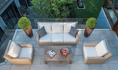 Kingsly Bate outdoor patio sofa setting