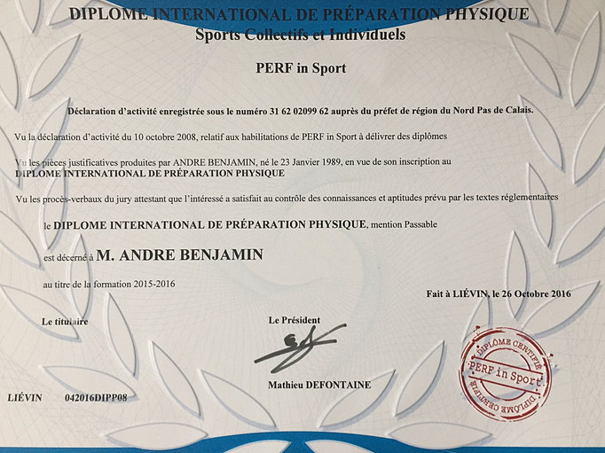 diplome international de pr u00e9paration physique