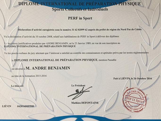 diplome international de pr u00e9paration physique