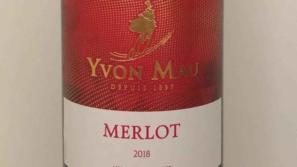 6x 2018er Merlot Yvon Mau, Gascogne
