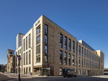 Soller Real Estate's Base Glasgow, the student housing development designed by Mosaic Architecture +