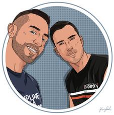 Portrait de Wesley & Thibault