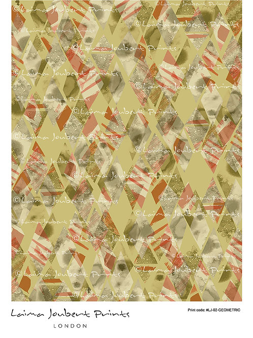 Geo Red Stripes Pattern