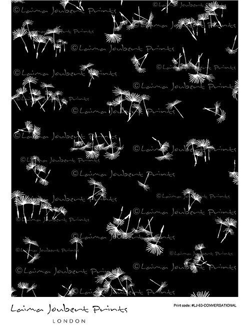 Flower Dandelion Black and White