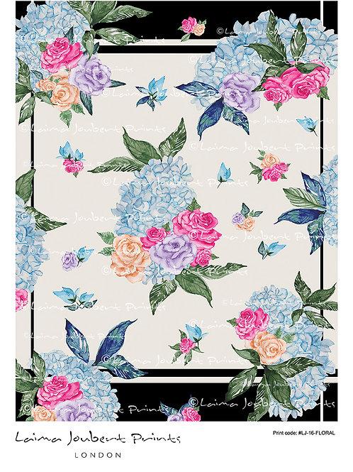 Floral Black Border Pattern