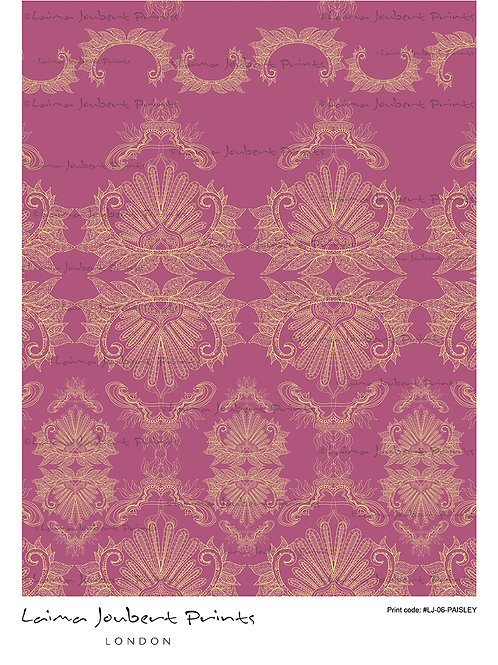 Paisley Ornament Purple