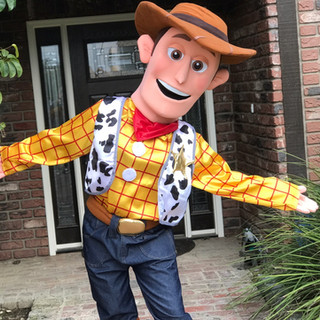 Wood Toy Cowboy Party Character