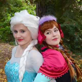 Elsa & Anna Princess Party Character