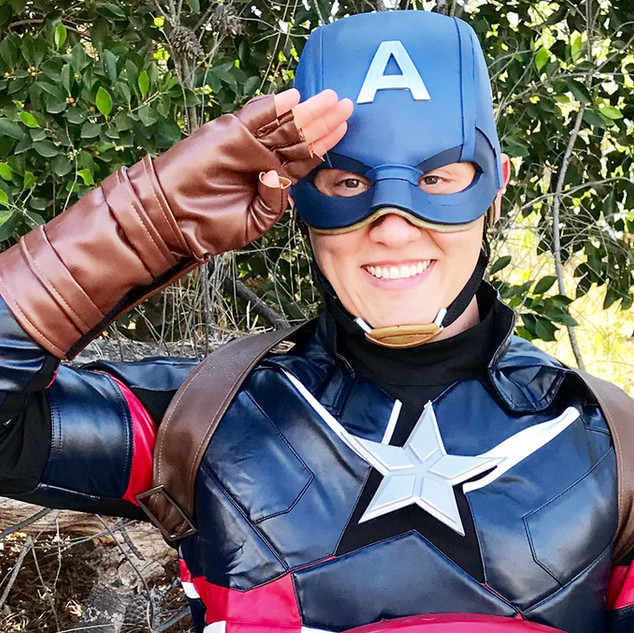 The American Captain Superhero Party Character