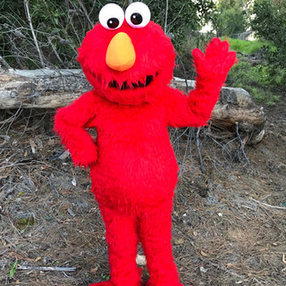 Furry Red Monster Elmo Character