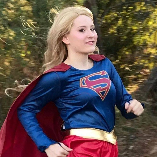 The Girl of Steel Superhero Party Character