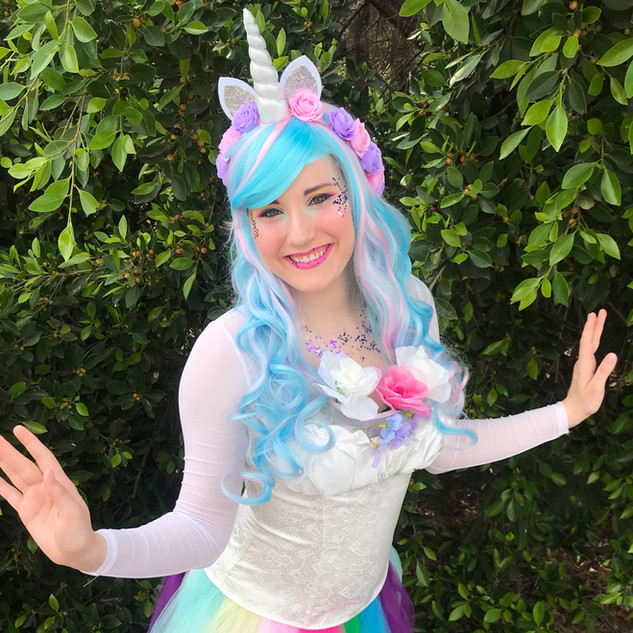 Unicorn Princess Party Character