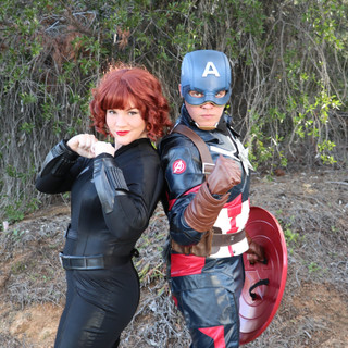 Black Widow & American Captain Party Cha