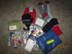 Survival bags we've handed out