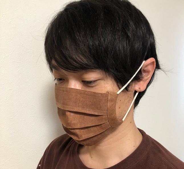 柿渋染めマスク