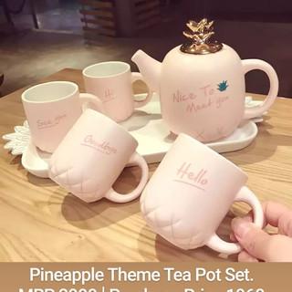 Pineapple Theme Tea Pot Set.