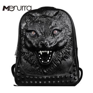 2016-new-stylish-backpacks-3D-wolf-head-