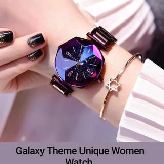 Galaxy Theme Unique Women Watch.