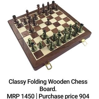 Classy Folding Wooden Chess Board.