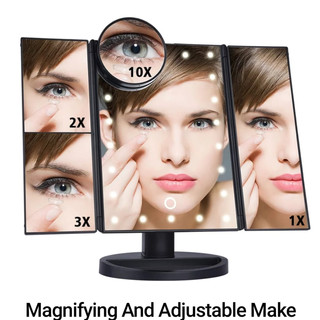 Magnifying And Adjustable Make Up Mirror With LED Light.
