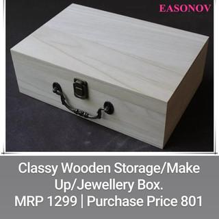 Classy Wooden Storage/Make up/Jewellery Box.