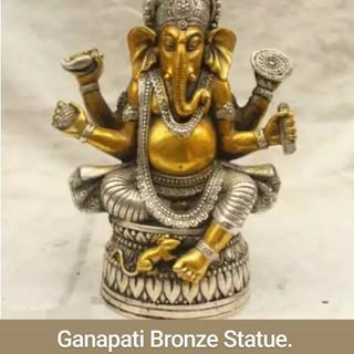 Ganapati Bronze Statue.