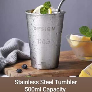 Stainless Steel Tumbler 500ml Capacity.