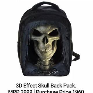 3D Effect Skull Back Pack.