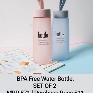 BPA Free Water Bottle SET OF 2