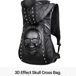 3D Effect Skull Cross Bag.