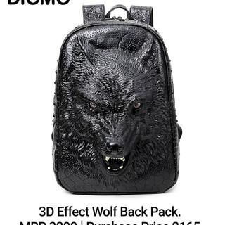 3D Effect Wolf Black Pack.